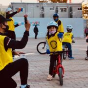 オール3歳児のキックバイク教室開催‼️